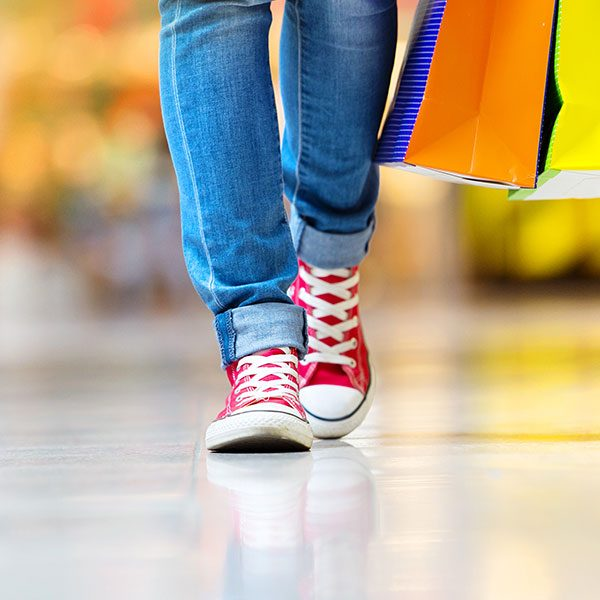 Image of Persons Legs Shopping