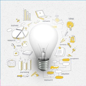 Light Bulb - Ideas for Business Graphic